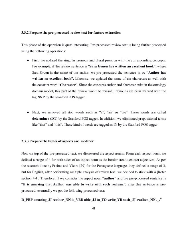 Thesis opinion mining