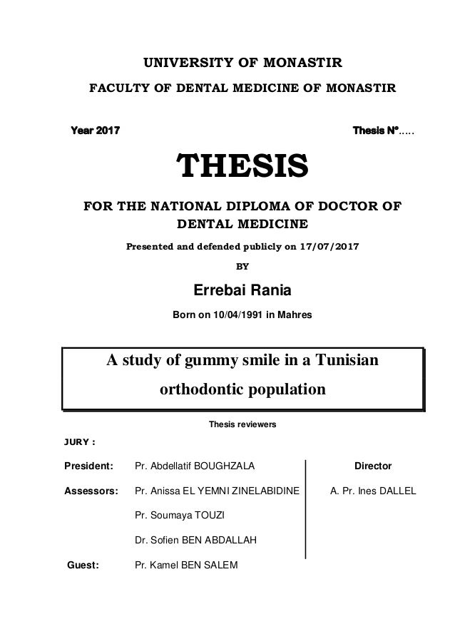 Orthodontic master thesis