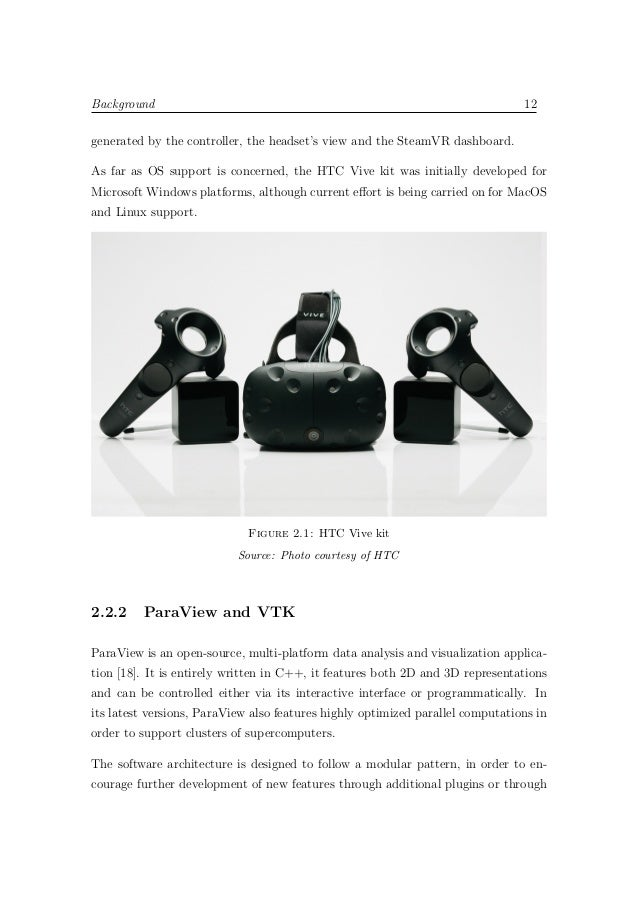 Design and implementation of a Virtual Reality application