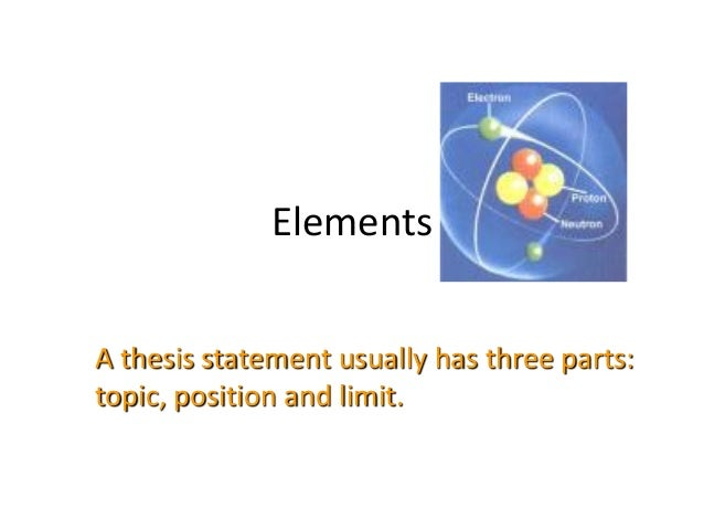 three main parts of a thesis statement