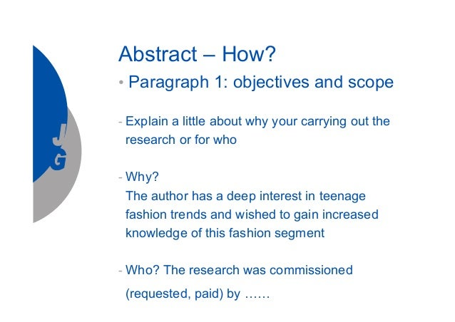Purpose of thesis abstract