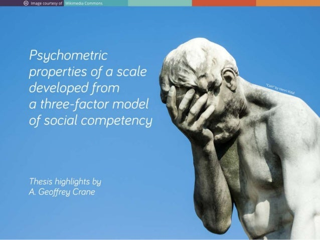 Psychometric properties of a scale developed from a three-factor model of social competency