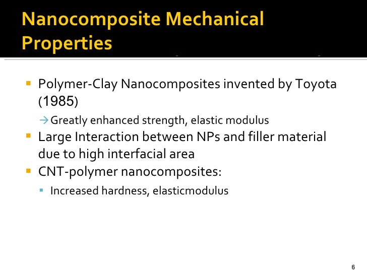 thesis on polymer nanocomposites On high density polyethylene/clay nanocomposites mechanical properties and morphology a thesis submitted in clay as reinforcement in polymer nanocomposite.