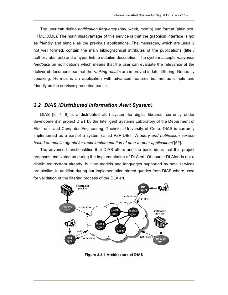 Digital libraries thesis