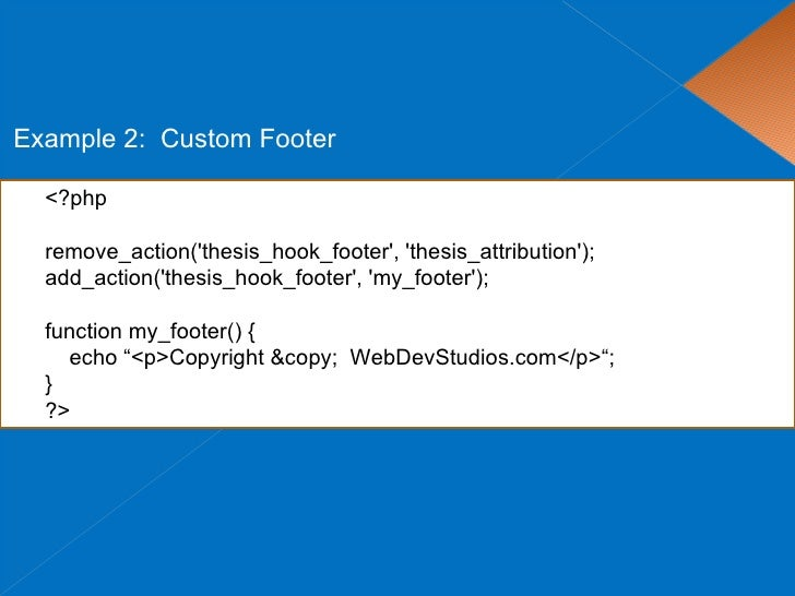 Thesis footer customization