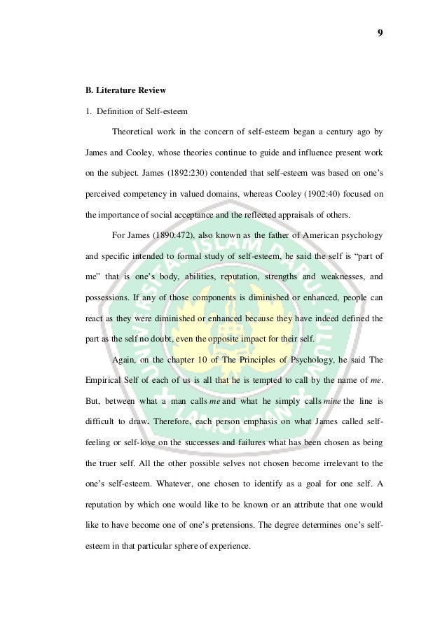 Thesis The Correlation Between Self Esteem And English Oral Productio