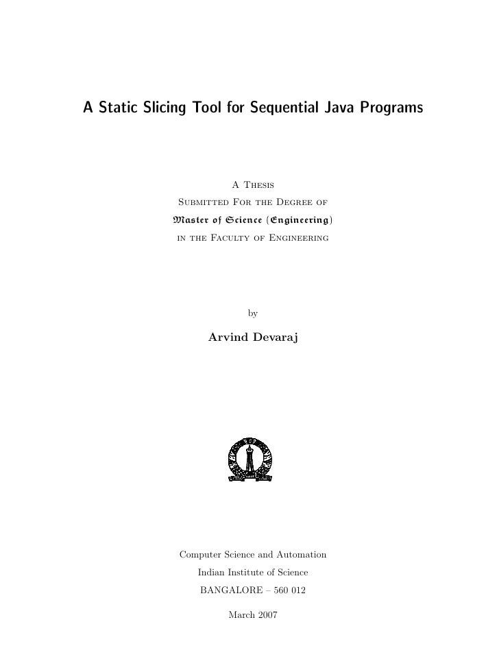 thesis in java Two memory models—the drf guarantee and the java memory model unlike   in this thesis, we consider common program transformations and analyse.