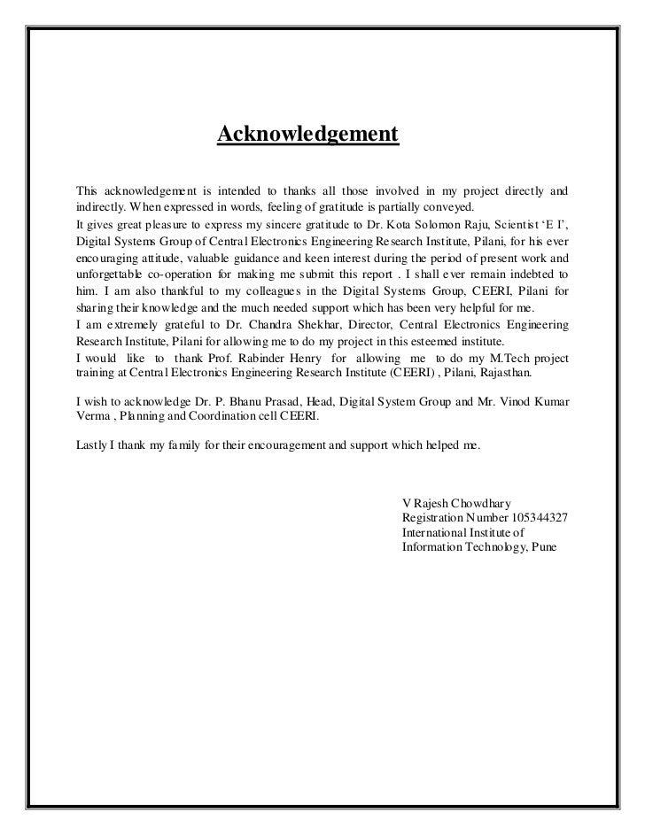 Acknowledgement believing dissertation parents