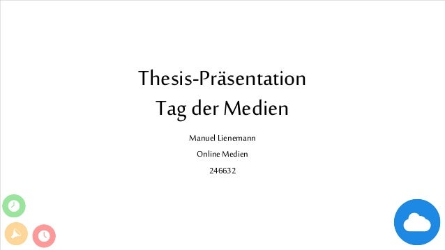 Thesis-Präsentation Tag der Medien Manuel Lienemann Online Medien 246632