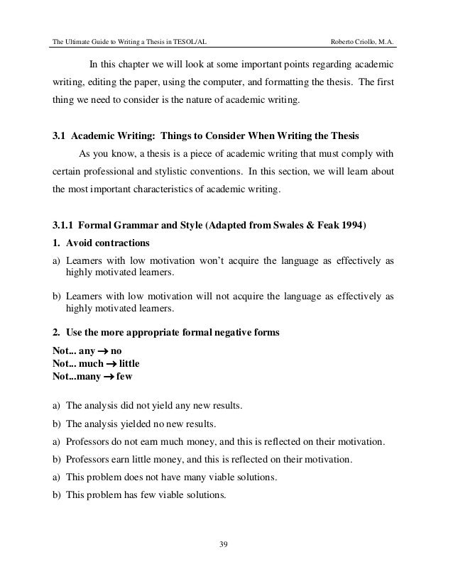 tesol thesis writing Us essay online: tesol thesis best writers rather than or superior to those variables, awareness of the general level of tesol thesis primary sources.