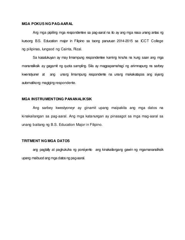 mga halimbawa ng kahalagahan ng pag-aaral sa thesis