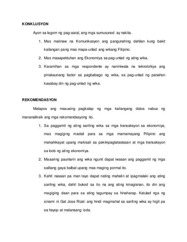 THESIS - WIKANG FILIPINO, SA MAKABAGONG PANAHON