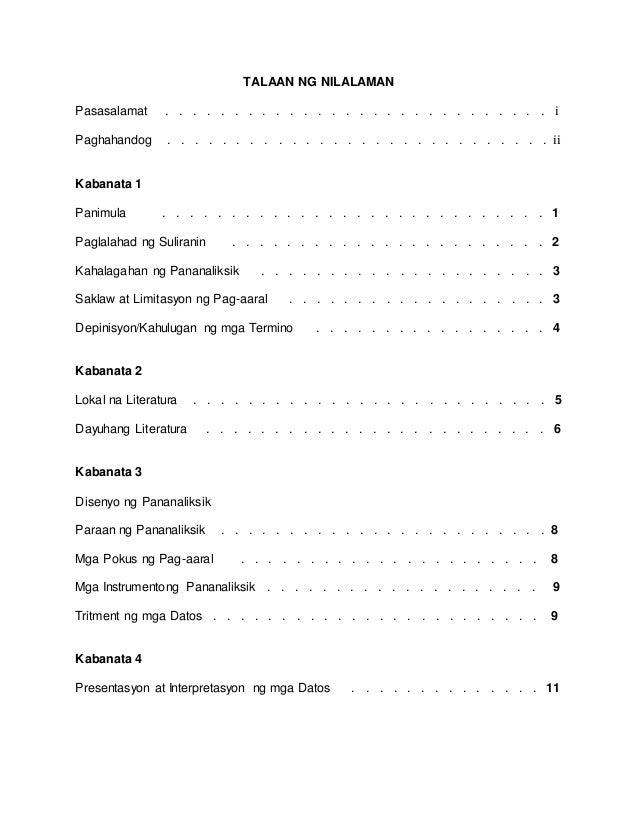 halimbawa ng konklusyon sa term paper