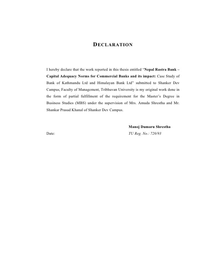 Mbs thesis tu nepal