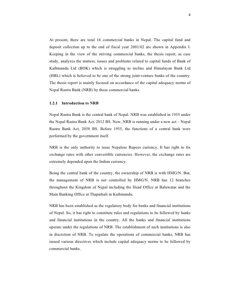 thesis on banks of nepal List of thesis, pokhara universitysno title 1 a study brand awereness and perception of wwf in nepal a study non performing a.