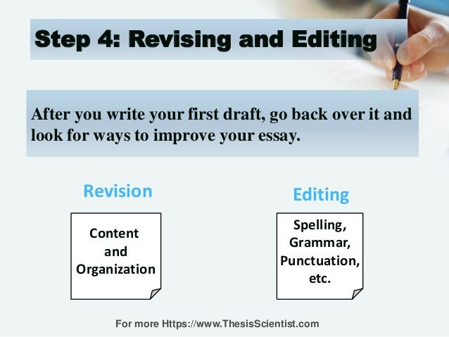 steps on revising a essay