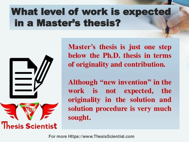 how to write master thesis