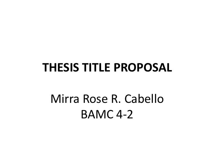 it thesis proposal I have read the attached thesis proposal and, in my opinion, it proposes work which is adequate in depth and scope to serve as the culminating experience for the master's degree in computer science.
