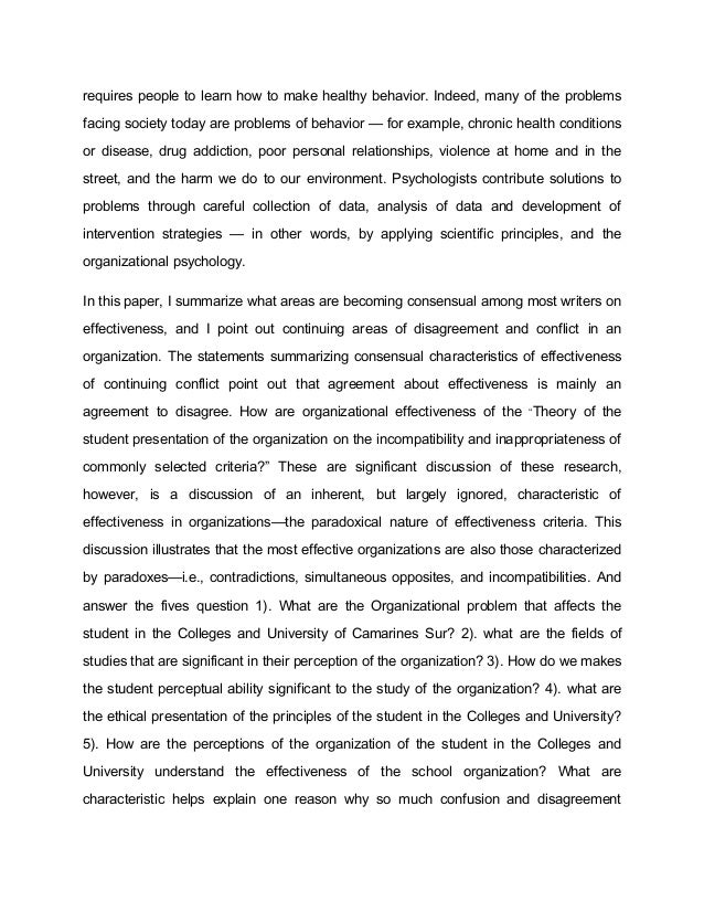 Personal statement io psychology - Student Essays E Student Essays ...