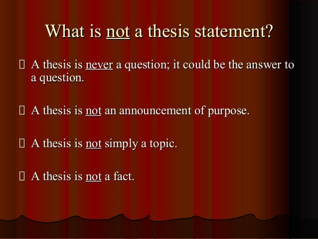 2 part thesis statement