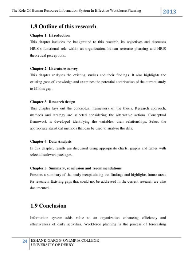 strategic human resource planning thesis