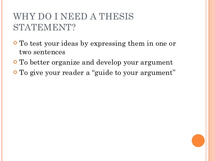 Thesis statement two sentences
