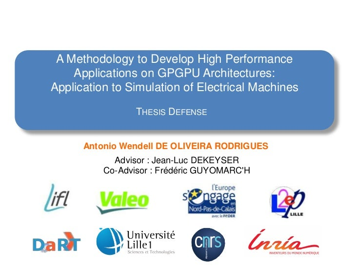 A Methodology to Develop High Performance    Applications on GPGPU Architectures:Application to Simulation of Electrical M...