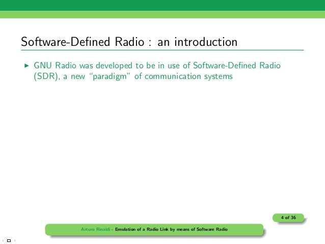 gnu radio thesis This thesis investigates the design and implementation of turbo codes over the gnu radio the turbo codes is a class of iterative channel codes which demonstrates strong capability for error.