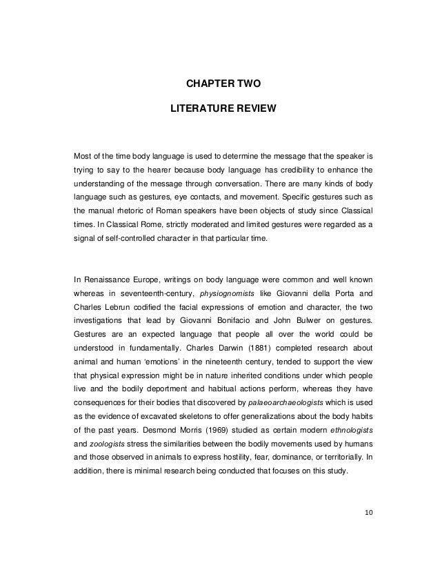 term paper on body language