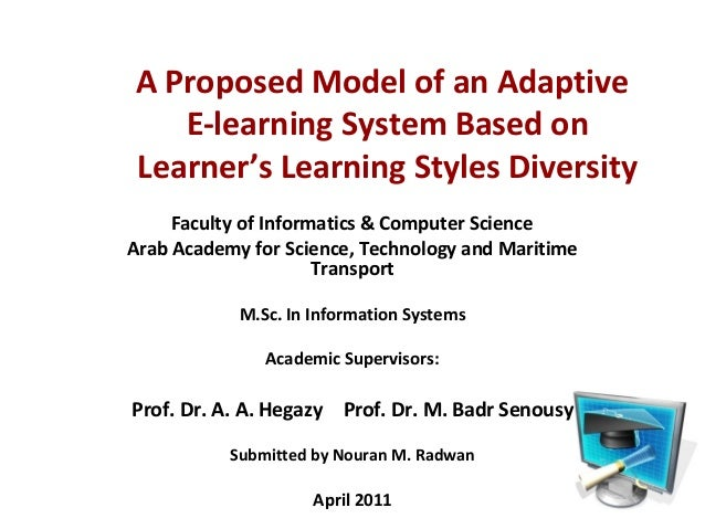 A Proposed Model of an Adaptive  E-learning System Based on  Learner's Learning Styles Diversity  Faculty of Informatics &...