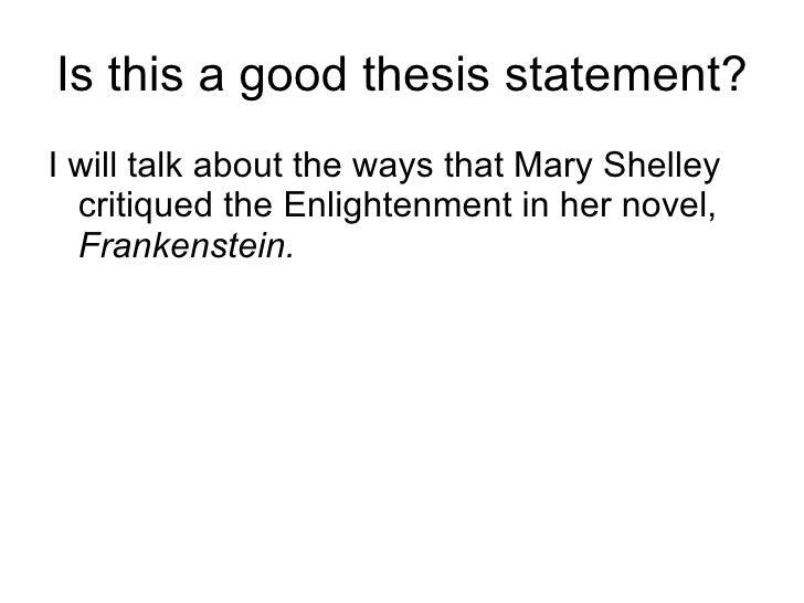 Frankenstein thesis statement