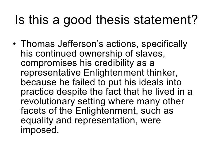 enlightenment thesis