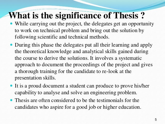 What is difference between thesis and dissertation