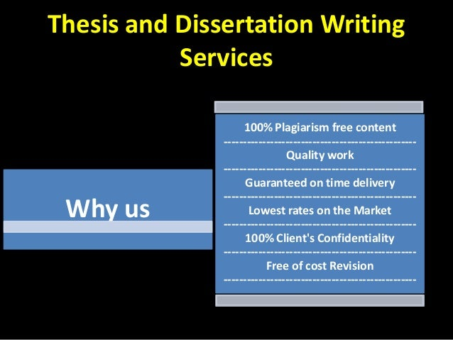 Cost of quality and dissertation
