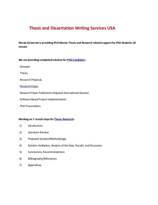 Dissertation usa