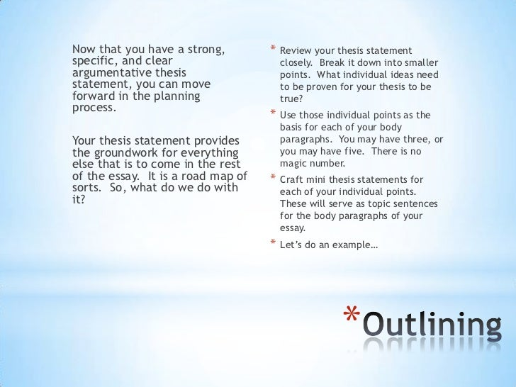 thesis statements and outlines 11