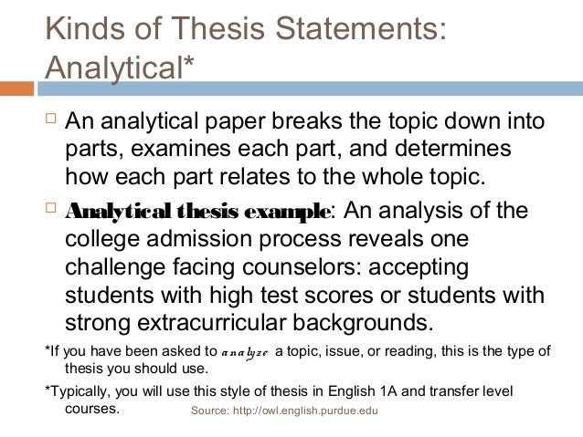 owl english purdue edu thesis statement Other areas if you see major problems (thesis statements, organization, topic  sentences  adapted from: .