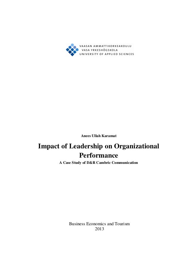 Thesis on applied leadership