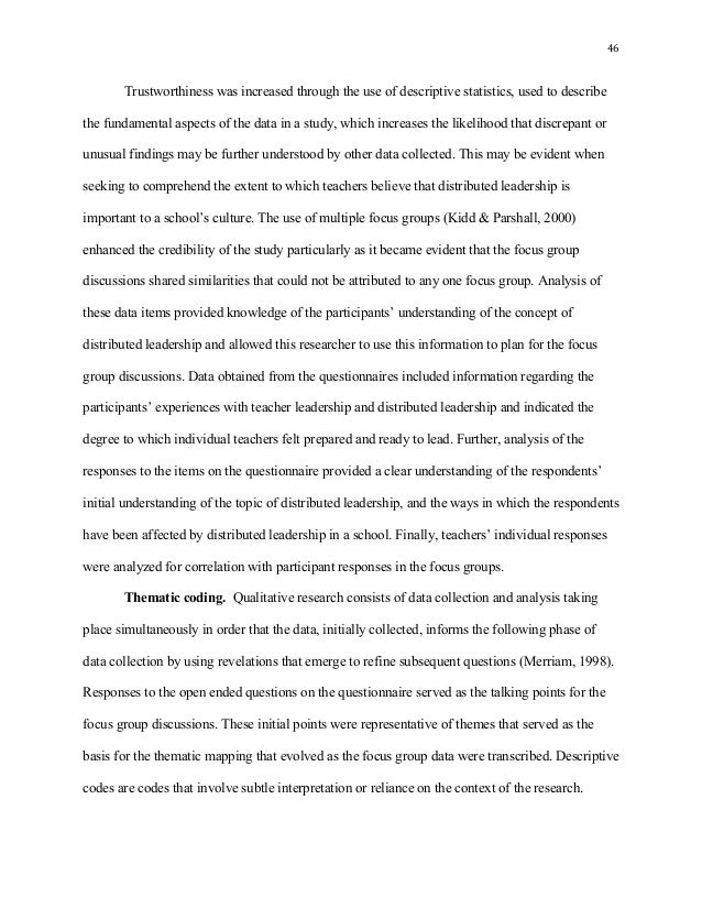 discussion section qualitative dissertation Top 10 tips for writing a dissertation data analysis 1 relevance  qualitative work  should be used in the dissertation itself 8 discussion .