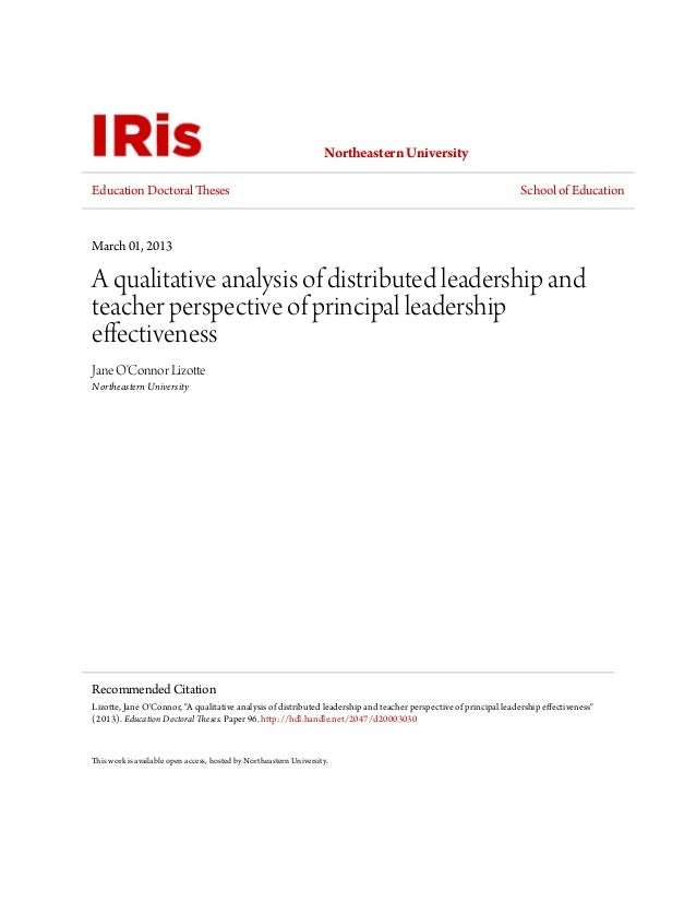 Development dissertation leadership qualitative