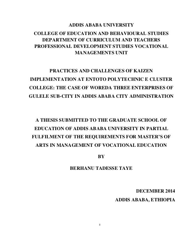 "the kaizen implementation in ethiopia The hr employee's level of readiness for hris implementation in this study was  358%  system implementation readiness in the ethiopian health sector: a  "" the hr section is well organized and based on the 'kaizen'."