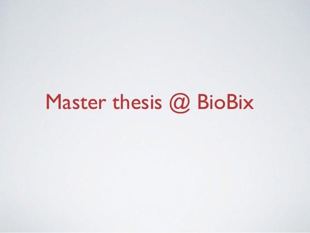 senior capstone project ideas biology