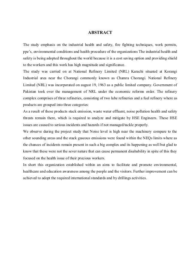 Dissertation proposal occupational safety health