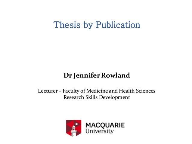 Phd dissertation publications