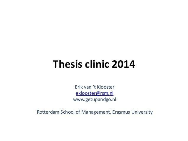 Thesis guidelines rsm