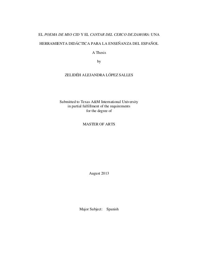 Dissertation le cid