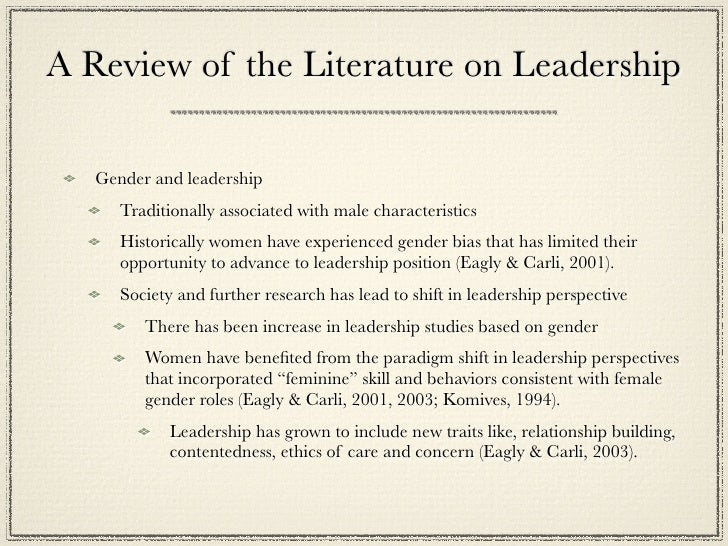 female and gender leadership essay