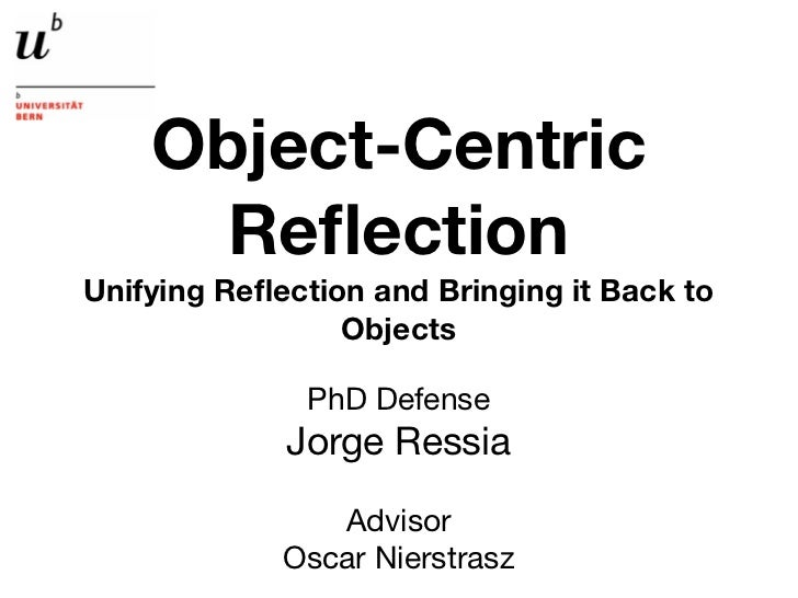 Object-Centric      ReflectionUnifying Reflection and Bringing it Back to                 Objects              PhD Defense  ...
