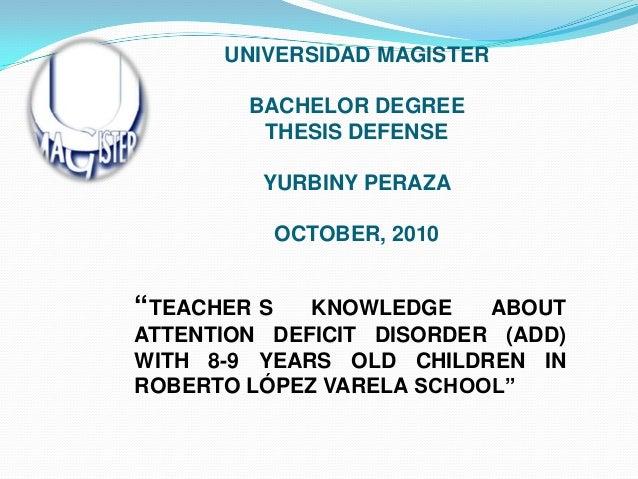 bachelor thesis defending