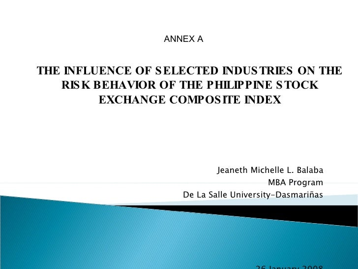 the philippine stock exchange essay The philippine stock exchange, inc (filipino: pamilihang sapi ng pilipinas pse: pse) is the national stock exchange of the philippinesthe exchange was created in 1992 from the merger of the manila stock exchange and the makati stock exchange.